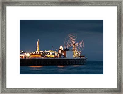 Pier Resplendant Framed Print by Jacqui Collett