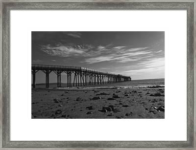 Pier San Simeon-1 Framed Print