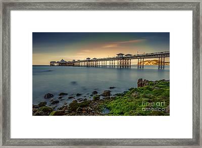 Pier Seascape Framed Print by Adrian Evans