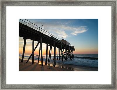 Pier Side Framed Print
