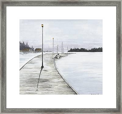 Pier Solitude Framed Print by Dan Haley