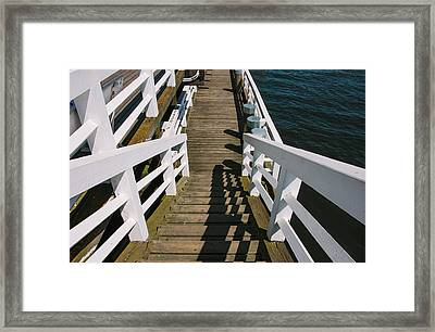 Pier Stairs Framed Print by Pati Photography