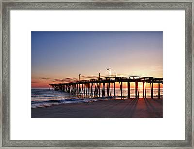 Framed Print featuring the photograph Pier Sunrise by Gregg Southard