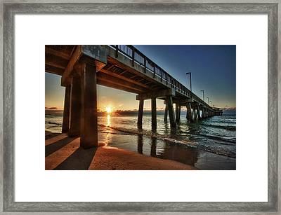 Pier Sunrise Framed Print