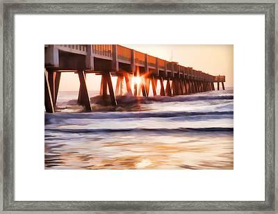Pier Sunrise Too Framed Print