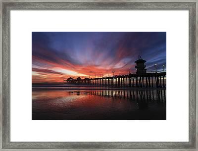 Pier Sunset Framed Print