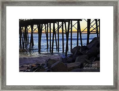 Pier Through  Framed Print
