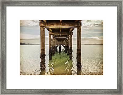 Pier Under Framed Print