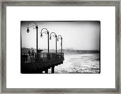 Pier View Framed Print by John Rizzuto