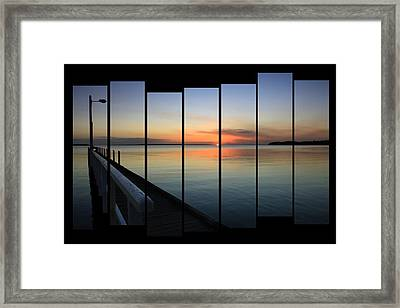 Pier View Sunset Framed Print