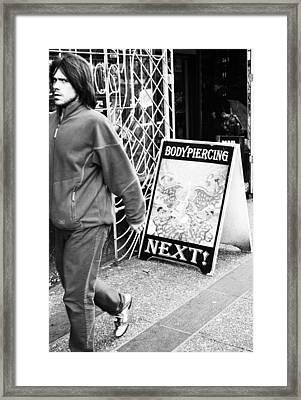 Pierce And Go Framed Print