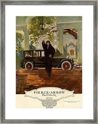 Pierce-arrow  1920s Usa Cc Cars Pierce Framed Print by The Advertising Archives