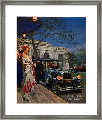 Pierce Arrow  1920s Usa Cc Cars Womens Framed Print by The Advertising Archives