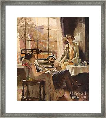 Pierce-arrow 1920s Usa Cc Drinking Tea Framed Print by The Advertising Archives