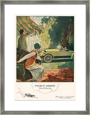 Pierce Arrow 1925 1920s Usa Cc Cars Framed Print by The Advertising Archives