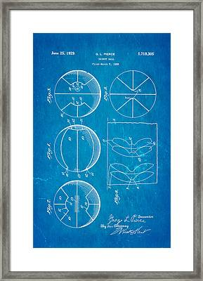 Pierce Basketball Patent Art 1929 Blueprint Framed Print by Ian Monk