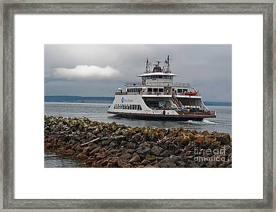Pierce County Washington Ferry Framed Print