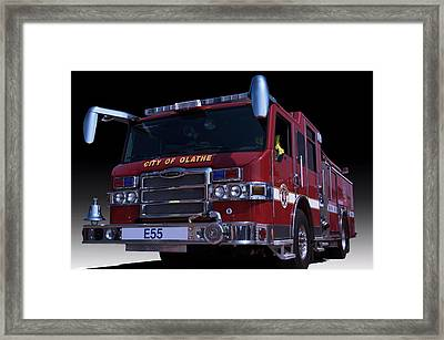 Pierce Fire Engine Rescue  Framed Print by Tim McCullough