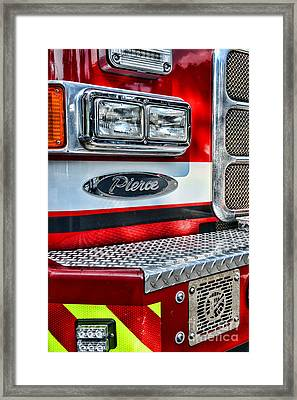 Pierce Fire Truck  Framed Print