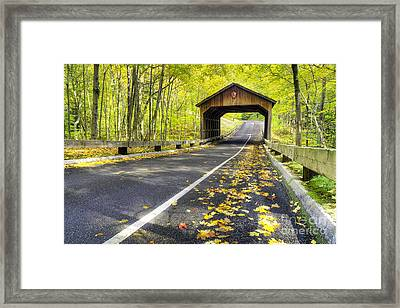 Pierce Stocking Scenic Drive In Fall Framed Print by Twenty Two North Photography