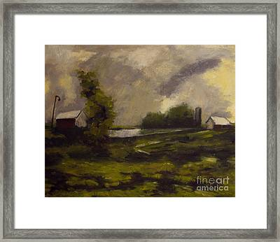 Pierce's View Framed Print by Charlie Spear