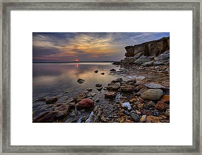 Piercing Calm Framed Print by Thomas Zimmerman
