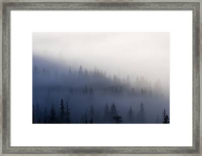 Piercing The Veil Framed Print by Mike  Dawson