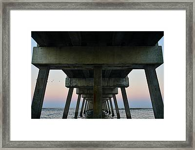 Pierhenge Framed Print by Laura Fasulo