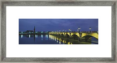 Pierre Bridge Bordeaux France Framed Print by Panoramic Images