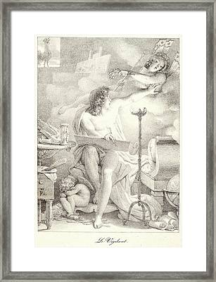 Pierre Guérin French, 1774 - 1833. The Vigilant One Le Framed Print