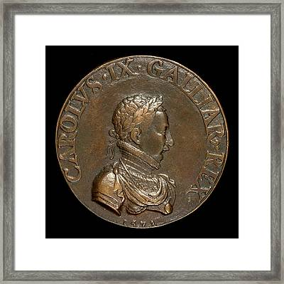 Pierre II Woeiriot De Bouzey, Charles Ix, 1550-1574 Framed Print by Litz Collection