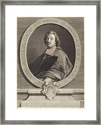 Pierre-imbert Drevet After Francois De Troy French Framed Print by Quint Lox