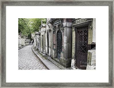 Pierre La'chaise Cemetery Framed Print by Crystal Nederman