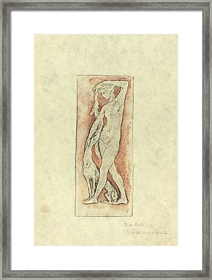 Pierre Roche, Diane Au Levrier Diana And A Greyhound Framed Print by Quint Lox