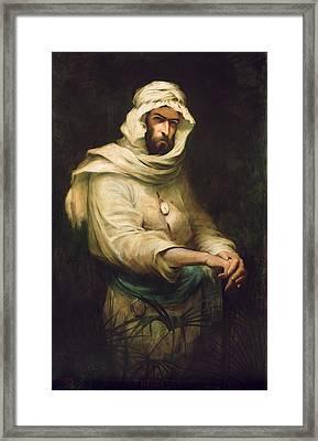 Pierre Savorgnan De Brazza 1852-1905 1886 Oil On Canvas Framed Print by Henry Jones Thaddeus