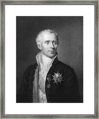 Pierre-simon Laplace Framed Print by Underwood Archives