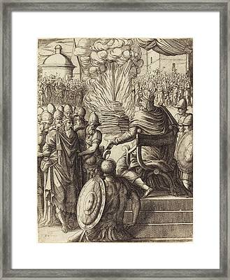 Pierre Woeiriot French, 1532 - 1599, Heraclius Sentencing Framed Print by Quint Lox