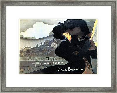 Pierrefort Poster Seller Framed Print by Charlie Ross
