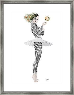 Pierrette Clown  Framed Print by Quim Abella