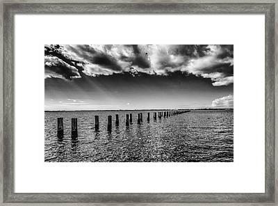 Piers At Edison And Fords Winter Estates Framed Print by Louis Dallara