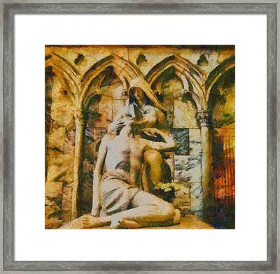 Pieta Masterpiece Framed Print by Dan Sproul
