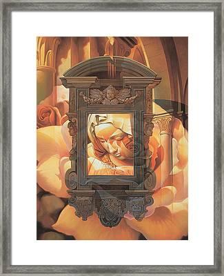 Pieta Framed Print by Mia Tavonatti