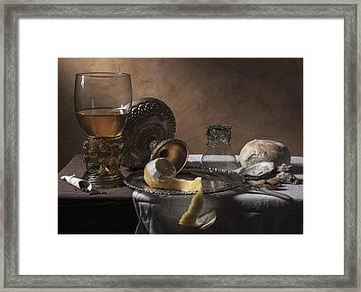 Framed Print featuring the photograph Pieter Claesz- Breakfast Piece by Levin Rodriguez