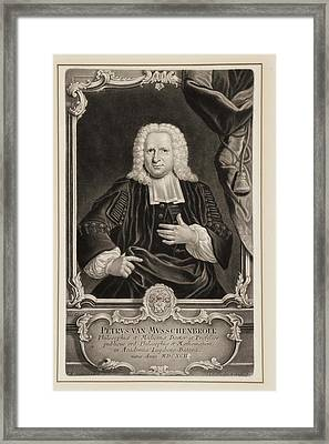 Pieter Van Musschenbroek Framed Print by Gregory Tobias/chemical Heritage Foundation