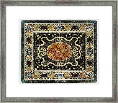 Pietre Dure Table Unknown Tabletop 1580 - 1600 Base 1825 Framed Print