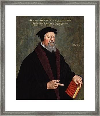 Pietro Martire Vermigli Framed Print by Hans Asper