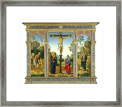Pietro Perugino, The Crucifixion With The Virgin Framed Print by Litz Collection