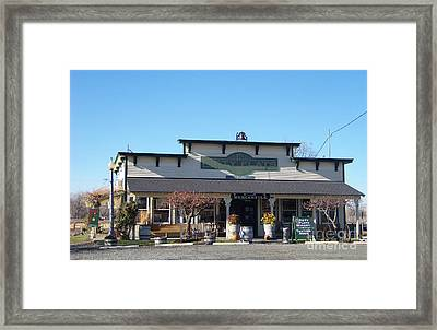 Piety Flats Winery And Mercantile Framed Print