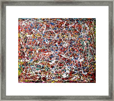 Pietyz Pollock - In Search Of Love Framed Print