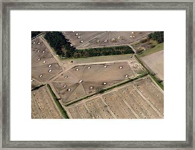 Pig Farm Overhead View Framed Print